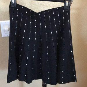 NWT Candies black & white circle skirt. Size XS